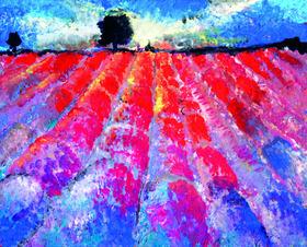 Bild: Artmasters - Paint-Party - Lavendelfeld