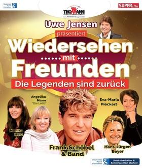 Bild: Wiedersehen mit Freunden - Uwe Jensen, Frank Schöbel & Band, Eva-Maria Pieckert, Hans-Jürgen Beyer, Monika Herz, Angelika Mann