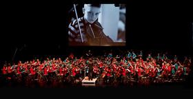 Bild: Trommel-Streich - Percussion-Streicherklassen-Konzert