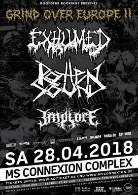 Bild: Exhumed + Rotten Sound + Implore