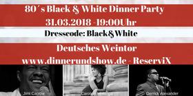 Bild: 80's Black & White Dinner Party - Deutsches Weintor