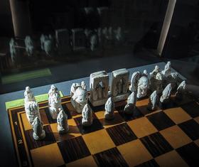 Bild: Nachts im Schachmuseum
