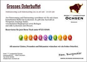 Bild: Osterbuffet 01.04 und 02.04.2018