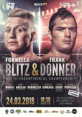 Bild: Blitz & Donner - Tyron Zeuge vs Isaac Ekpo - WBA Weltmeisterschaft | Sebastian Formella vs Angelo Frank - IBO Interconti