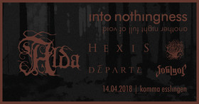 Bild: Into Nothingness w. Alda (USA), Hexis (DK), Départe (AUS) - Another Night Full Of Void