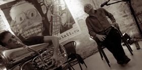 Bild: Geröhrt // Phil Minton & Carl Ludwig Hübsch - Jazzclub im Bad.Kunstverein