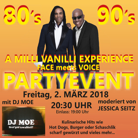 80?s / 90?s Partyevent - A Milli Vanilli Experience FACE meets VOICE