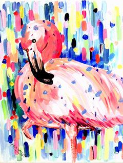 Bild: Artmasters - Paint-Party - Flamingo Dance