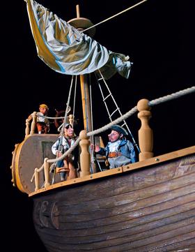 Bild: Pirat Eberhard auf Kaperfahrt
