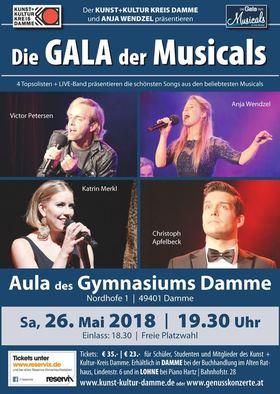 Bild: Die GALA der MUSICALS - Damme - Genusskonzerte by Anja Wendzel und der Kunst+Kultur-Kreis Damme präsentieren die schönsten Musicalmelodien in einem Konzert