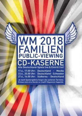 Bild: WM 2018 Das Indoor-Familien-Public Viewing in der CD-Kaserne