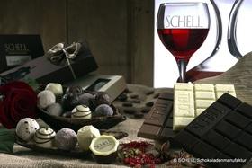 Bild: Wein und Schokolade