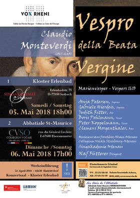 Bild: Vespro della Beata Virgine Marienvesper Verspers 1610 - Monteverdi - Vox Rheni 2018