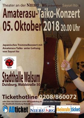 Bild: Amaterasu Taiko - Japanisches Trommelkonzert - In der Stadthalle Duisburg Walsum