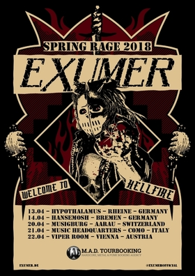 Bild: EXUMER - Spring Rage 2018 - with special guests JAMHEADS & PERZONAL WAR