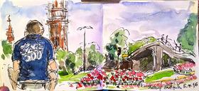 Bild: Urban Sketching in Freiburg – Zeichnen einfach unterwegs