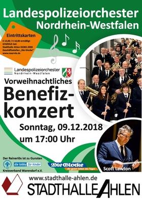Vorweihnachtliches Benefizkonzert - mit dem Landespolizeiorchester Nordrhein-Westfalen