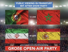Bild: WM 2018 - Public Viewing - Portugal vs. Marokko & Iran vs. Spanien