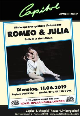 Bild: Royal Ballet London: Romeo und Julia