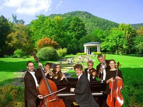 Bild: sommerliche Wassermusik im Kurpark Bad Überkingen