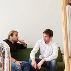 Bild: Andreas Hofmeier, Andreas Mildner: Besser ohne Worte - Lieder und Arien für Tuba und Harfe