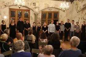 Bild: 15. Sommerakademie Leutkirch - Teilnehmerkonzert - Junge Streicher im Weberzunfthaus
