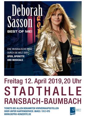 Bild: Deborah Sasson - Best of me! - Eine musikalische Reise durch die Welt der Oper, Operette und Musicals