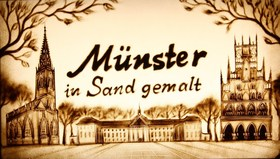 Bild: Münster in Sand gemalt - Sandmalerei Show