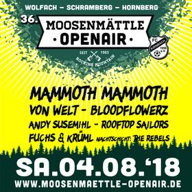 Bild: 36. Moosenmättle Open Air - Mit Mammoth Mammoth, Von Welt,