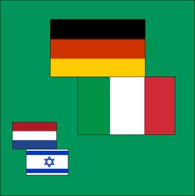 Bild: Niederlande - Israel & Deutschland - Italien