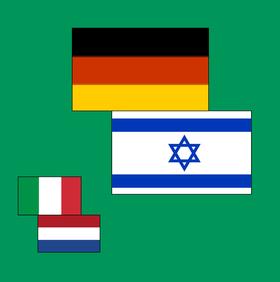 Bild: Deutschland - Israel & Italien - Niederlande