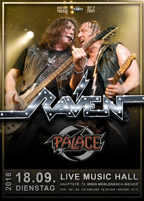 RAVEN - European Tour 2018 - Special Guests: PALACE + tba