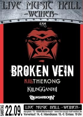 Bild: Kill The Kong + Broken Vein + Killing Gandhi - Support: Quasarborn