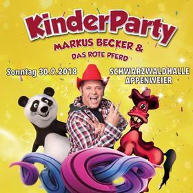 Bild: Kinderparty mit Markus Becker und dem roten Pferd