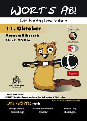 Bild: Wort´s ab! Die Achte - Die Poetry Lesebühne im Museum Biberach
