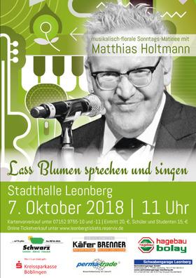 Bild: Musikalisch-florale Sonntags-Matinee - mit Matthias Holtmann