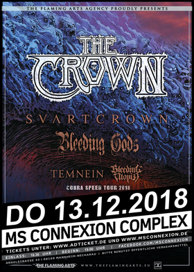 Bild: The Crown, Svart Crown, Bleeding Gods & Supports