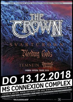 Bild: The Crown, Svart Crown, Bleeding Gods & Supports
