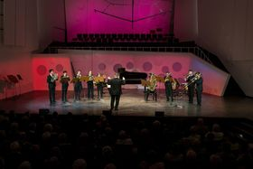 Bild: Weihnachtliche Blechbläsermusik - HfM Dresden