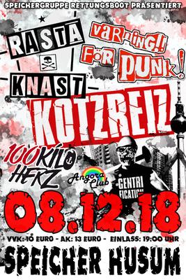 Bild: Kotzreiz // Rasta Knast // 100 Kilo Herz // Angora Club