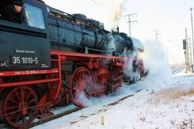 Bild: Winterdampf nach Schwarzenberg (Eibenstock+Carlsfeld)