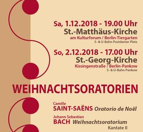 Bild: Weihnachtsoratorien - Konzertchor Niederschönhausen
