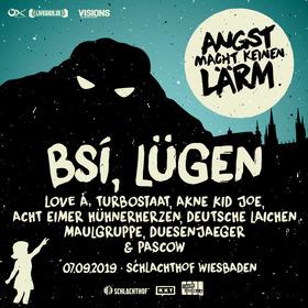 Bild: ANGST MACHT KEINEN LÄRM - feat. TURBOSTAAT / PASCOW / LOVE A / DUESENJAEGER / AKNE KID JOE / MAULGRUPPE/ DEUTSCHE LAICHEN / ACHT EIMER HÜHNERHERZEN/ u.a.