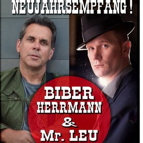 Bild: Neujahrsempfang mit Biber Herrmann & Mr. Leu - Neujahrsempang im April