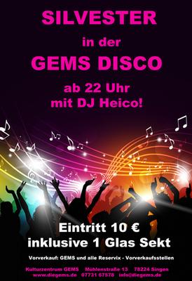 Bild: Silvester in der GEMS Disco