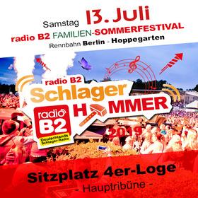 Kat. 3 - radio B2 SchlagerHammer - 4er Loge (Sitzplätze) 79,90€ + VVK. Geb.