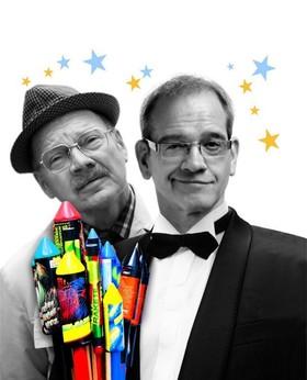 Bild: Frank Küster und Herrn Heuser vom Finanzamt - Die Knaller des Jahres 2018: Der Kabarettrückblick