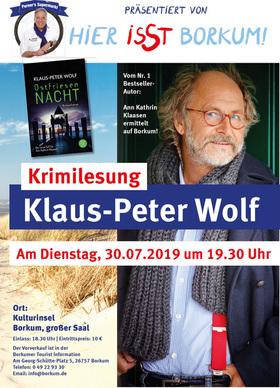 Bild: Krimilesung Klaus-Peter Wolf