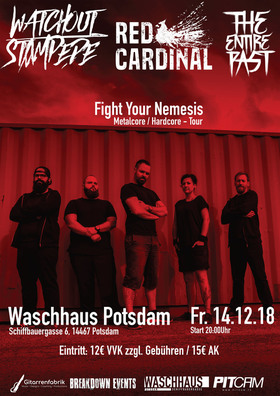 Bild: Fight Your Nemesis Tour - THE ENTIRE PAST, RED CARDINAL, WATCH OUT STAMPEDE
