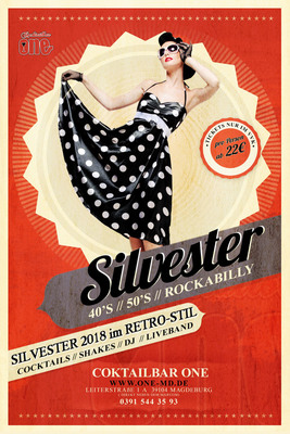 Bild: Silvesterfeier 2018 im ONE - 40´s / 50´s / Rockabilly - 31. Dezember 2018 - Retro Silvester